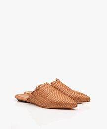 forte_forte Braided Slip-in Mules - Cuoio