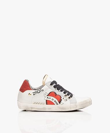 Zadig & Voltaire Used Leren Sneakers - Wit