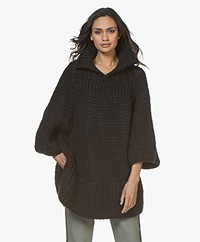 I Love Mr Mittens Maxi Chunky Knit Sweater - Black