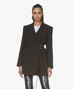IRO Sensitive Long Belted Blazer - Black