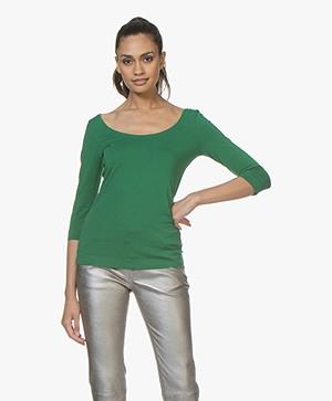 Josephine & Co Cher T-Shirt met Driekwart Mouwen - Groen