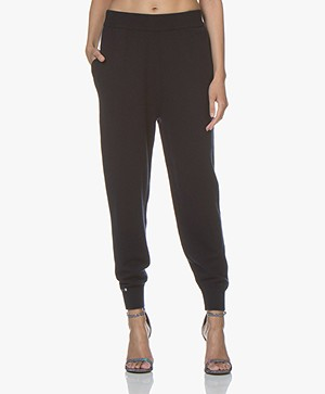 extreme cashmere N°56 Yogi Knitted Pants - Navy