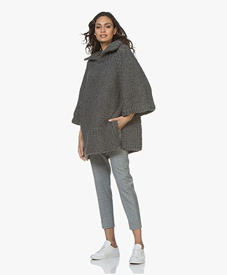 I Love Mr Mittens Maxi Chunky Knit Sweater - Charcoal