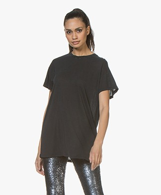 IRO Playful Lyocell T-Shirt - Used Black