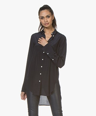 By Malene Birger Likarah Zijden Blouse - Night Blue