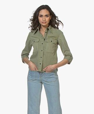 Zadig & Voltaire Toast Military Blouse - Khaki