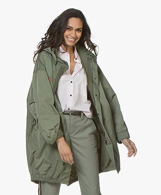 Zadig & Voltaire Kiko Nylon Parka Jacket - Khaki