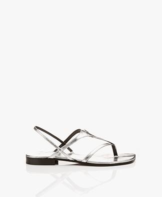 Zadig & Voltaire Dillon Strappy Sandals - Silver