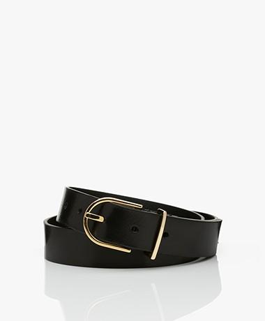 Drykorn Tanila Leather Belt - Black