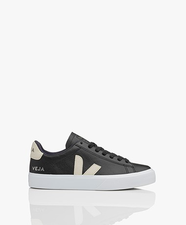 VEJA Campo Low Logo Leather Sneakers - Black/Natural