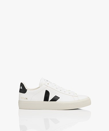 VEJA Campo Low Logo Leather Sneakers - White/Black