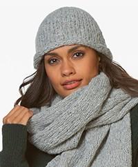 Drykorn Kelo Slub Knitted Beanie - Grey Melange