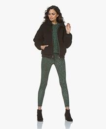 Ragdoll LA Distressed Leopard Print Sweatshirt - Green