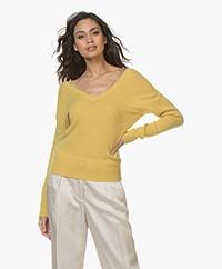Majestic Filatures Cashmere Double V-neck Sweater - Topaze
