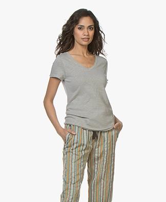 American Vintage Sonoma Slub Jersey T-shirt - Grisou