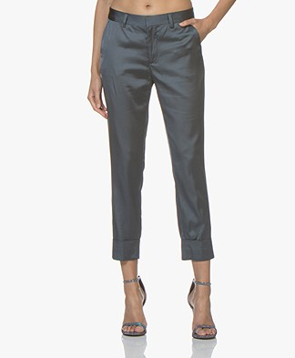 Closed Stewart Satin Pants - Aviator Blue