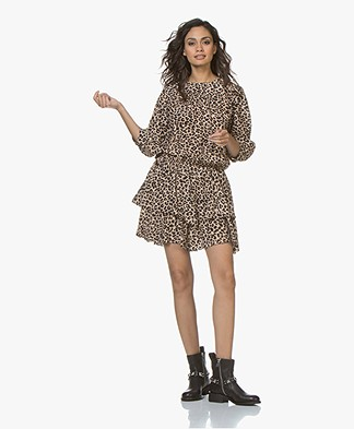 Zadig & Voltaire Rooka Leopard Printed Dress - Naturel