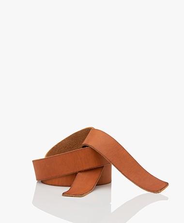 forte_forte Leather Tie Belt - Miele