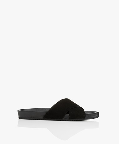 Filippa K Nadia Suede Leather Sandals - Black
