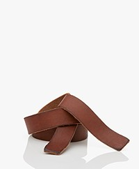 forte_forte Leather Tie Belt - Papaya