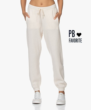American Vintage Tadbow Merino Gebreide Sweatpants - Mother of pearl