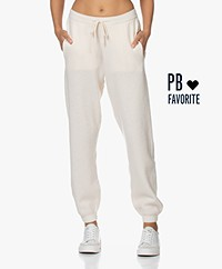 American Vintage Tadbow Merino Gebreide Sweatpants - Mother of pearl