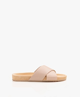Filippa K Nadia Nappa Leren Slippers - Natural