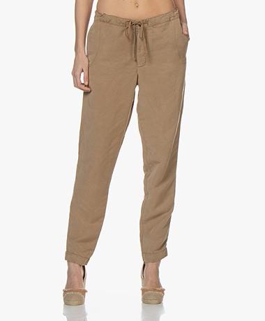 Josephine & Co Bikkel Linen-Tencel Pants - Coffee