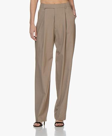 Filippa K Julie Loose-fit Wool Blend Pants - Greige