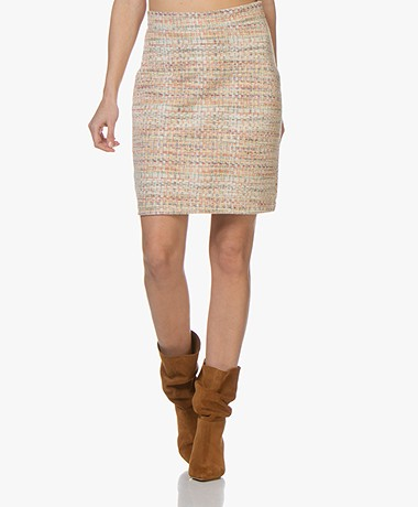 Josephine & Co Benedict Tweed Pencil Skirt - Light Salmon