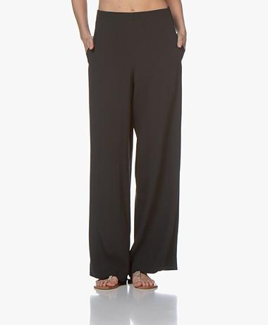 Pomandère Crepe Wide-leg Pants - Dark Greyish Green