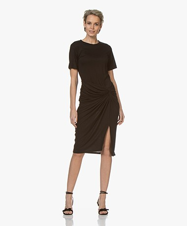 By Malene Birger Chalett Draped Jersey Dress - Black