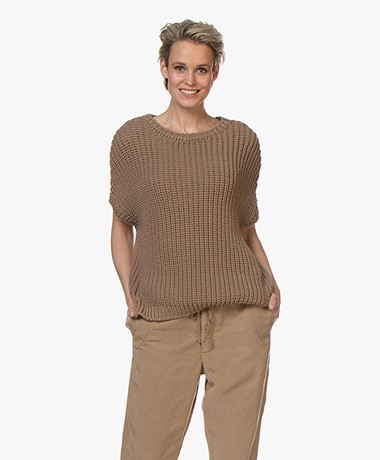 Sibin/Linnebjerg Angel Chunky Knit Pullover - Brown