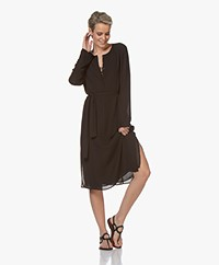 Filippa K Milla Recycled Chiffon Dress - Black