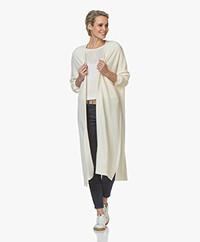 Sibin/Linnebjerg Sister Lang Open Vest - Off-white