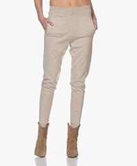Sibin/Linnebjerg She Merino Knitted Pants - Sand