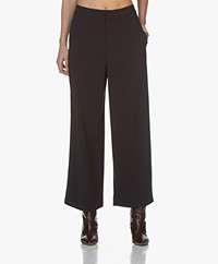 Filippa K Naia Cropped Wide-leg Pants - Navy