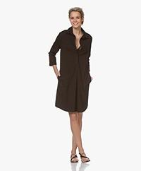 Belluna Feliz Stretch-cotton Shirt Dress - Noir
