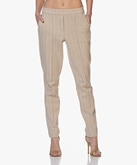 Josephine & Co Bari Herringbone Jersey Broek - Print Coffee
