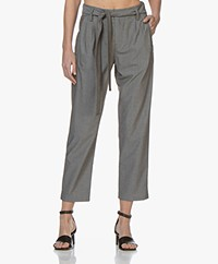 Drykorn Dispatch Viscose Blend Pants - Grey