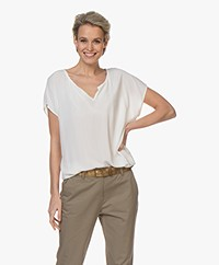 Josephine & Co Bell Splithals Crêpe Top - Wit