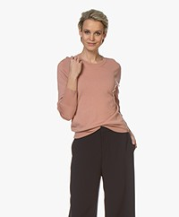 Filippa K Merino R-neck Trui - Antique Rose