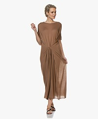 extreme cashmere N°139 Caftan Cashmere Maxi Dress - Tan