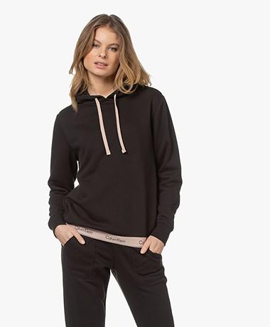 Calvin Klein Logo Lounge Hooded Sweatshirt - Black/Honey Almond