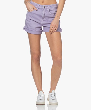 Drykorn Caba Denim Shorts - Lilac