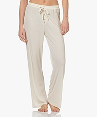Love Stories Sunday Rib Jersey Lounge Pants - Pearl Jam
