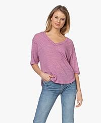 Vanessa Bruno Neil Linen T-shirt - Mauve Pink