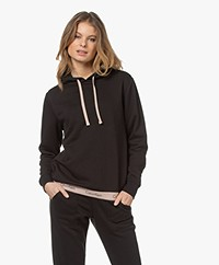Calvin Klein Logo Lounge Capuchontrui - Zwart/Honey Almond