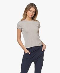 Drykorn Ermali Rib Cap Sleeve Sweater - Greige