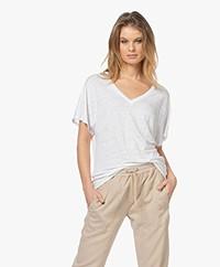 Josephine & Co Lette Linen T-shirt - White